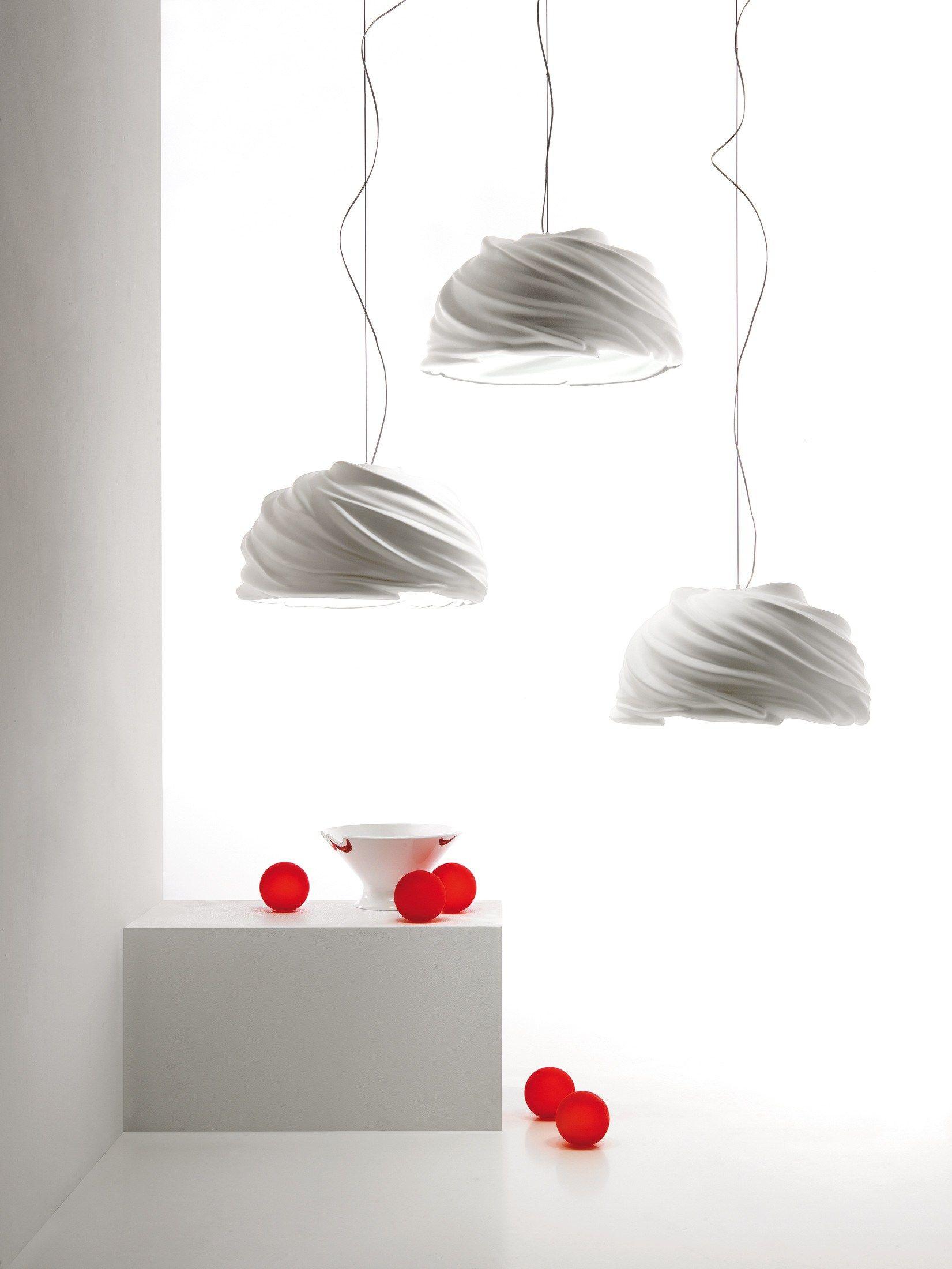 Luminária pendente LED de cerâmica com luz direta CYCLONE - Fabbian