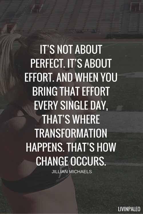 It's all about effort... effort, effort, effort and then more EFFORT!!!