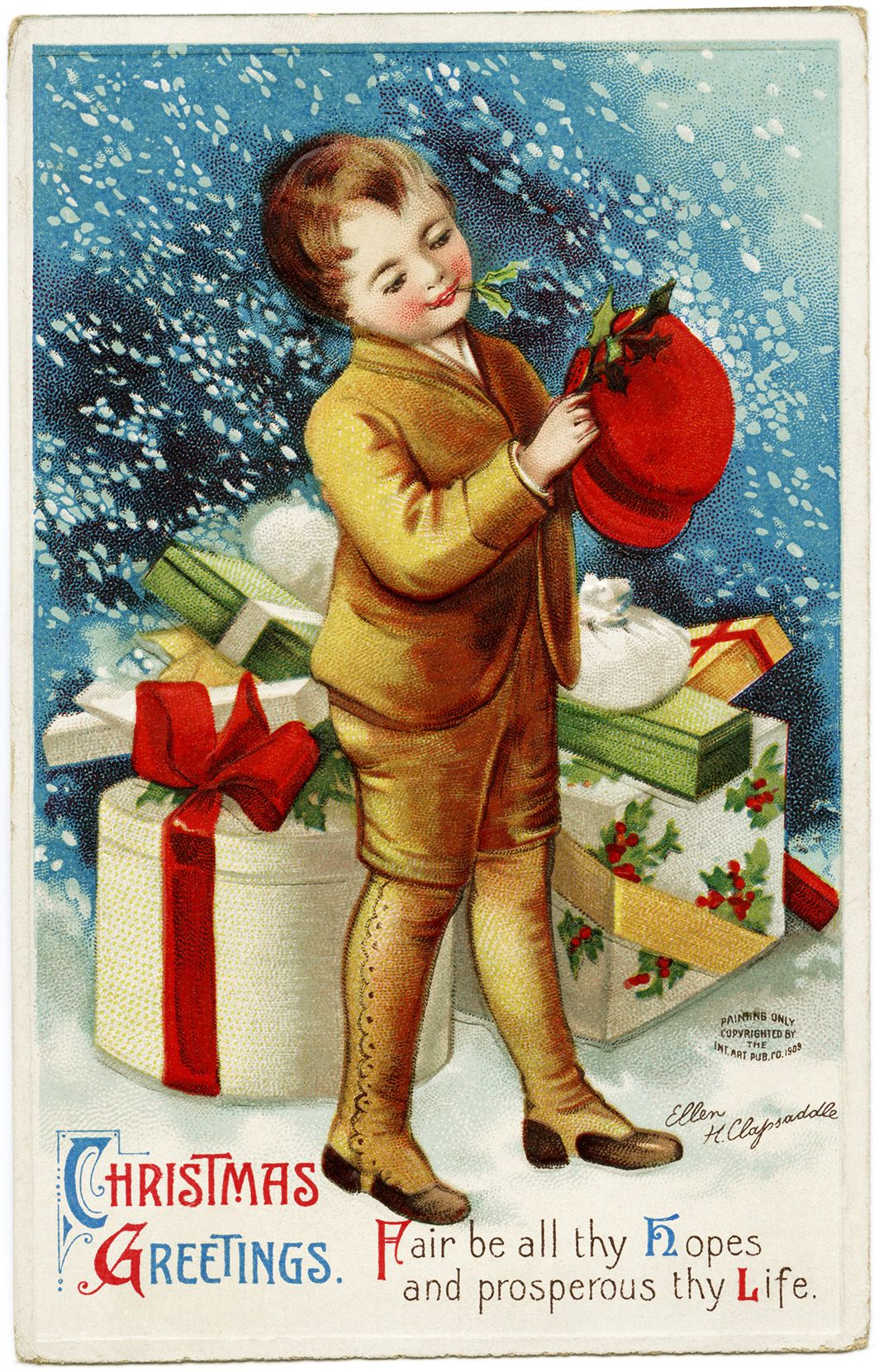 Old fashioned christmas clip art image antique holiday ellen clapsaddle christmas postcard vintage christmas card old fashioned christmas image antique holiday printable victorian christmas clip art kristyandbryce Image collections