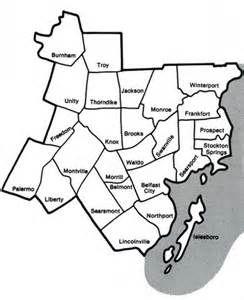 Waldo Ohio Map.Map Of Waldo County Towns Waldo County Info