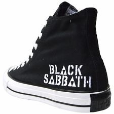 Scarpe Converse All Star Chucks UK 11 UE 45 Black Sabbath LIMITED EDITION NUOVO