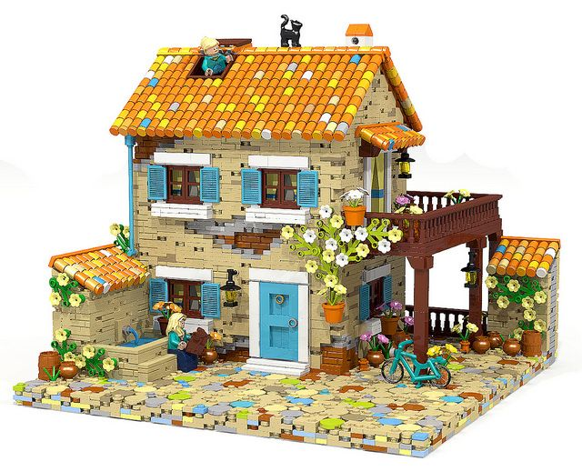 Nice Lego MOCs City ~ Provence House | By Oms5134