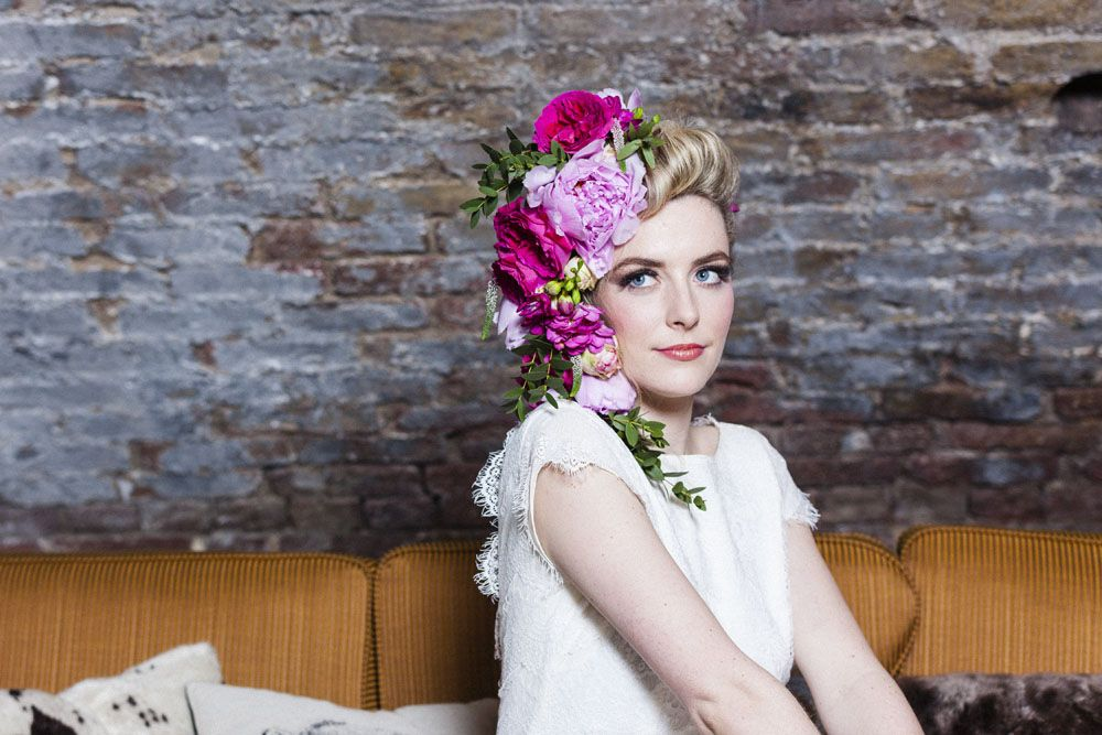 Flowers in her Hair Styled Shoot  Oversized Flower Crown Inspiration