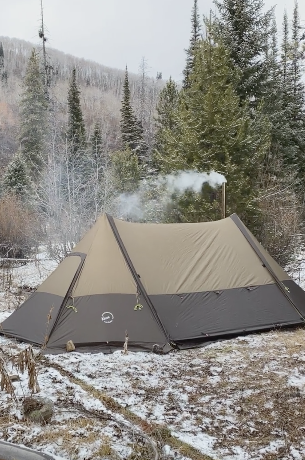 Twinpeak Awning Tent 5p With Wood Stove Jack Camping Shelters Outdoor Camping Outdoor