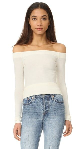 GETTING BACK TO SQUARE ONE Off Shoulder Long Sleeve Tee