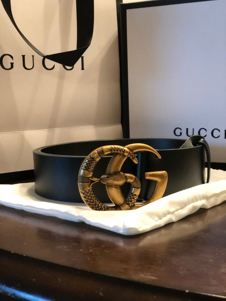 eee2d9430 Mens 100CM Gucci Belt BLACK With Gold Snake GG Buckle #fashion #clothing # shoes #accessories #mensaccessories #belts (ebay link)