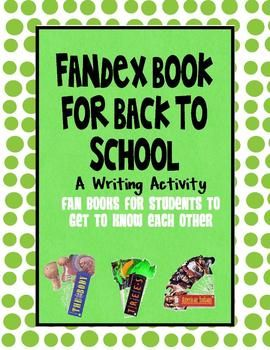 fun writing activity for back to school...kids love to make these fan books and will love it more when it's about themselves!