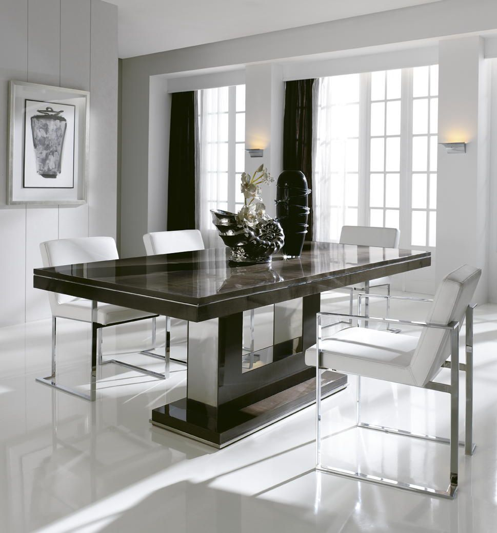 London Collection Extending Dining Table Contemporary Kitchen