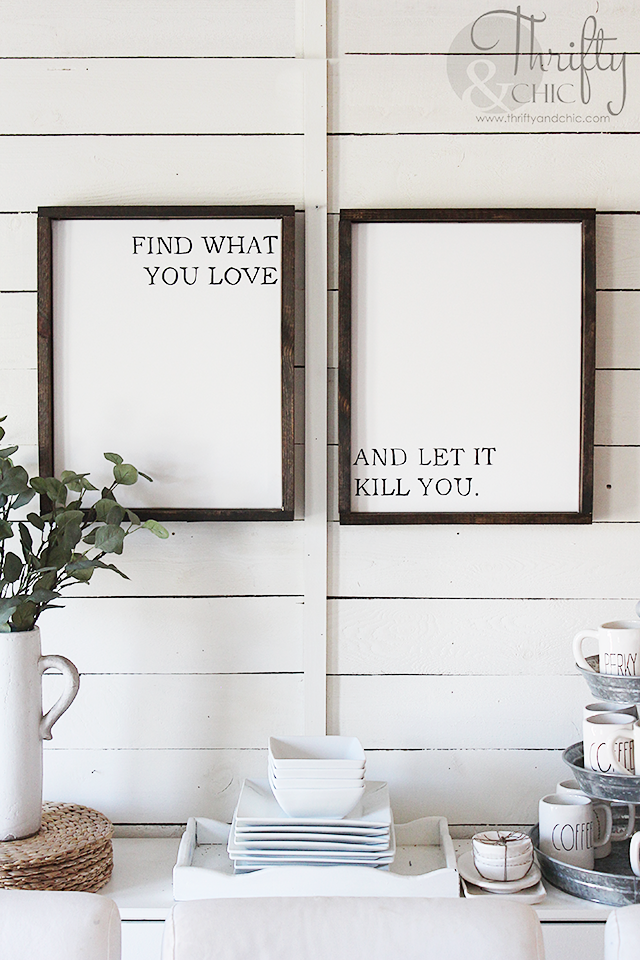 DIY Framed Canvas Signs | Black quotes, Diy frame and Canvas signs
