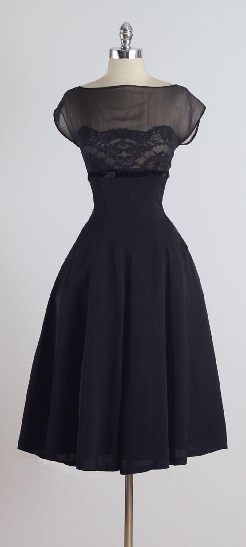 1950s lace dress  Vintage s Suzy Perette Black Silk Lace Dress  Black silk Lace