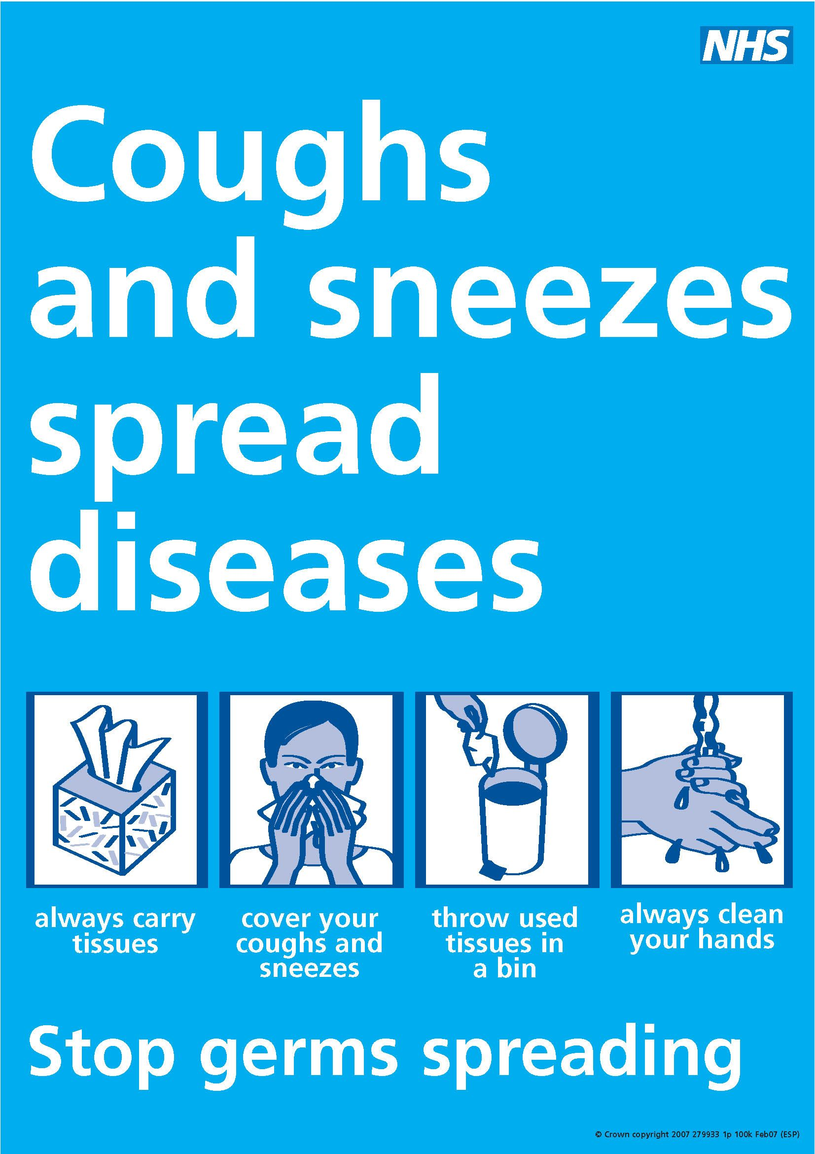 Coughs and sneezes spread diseases poster   Health, wellness, and ...