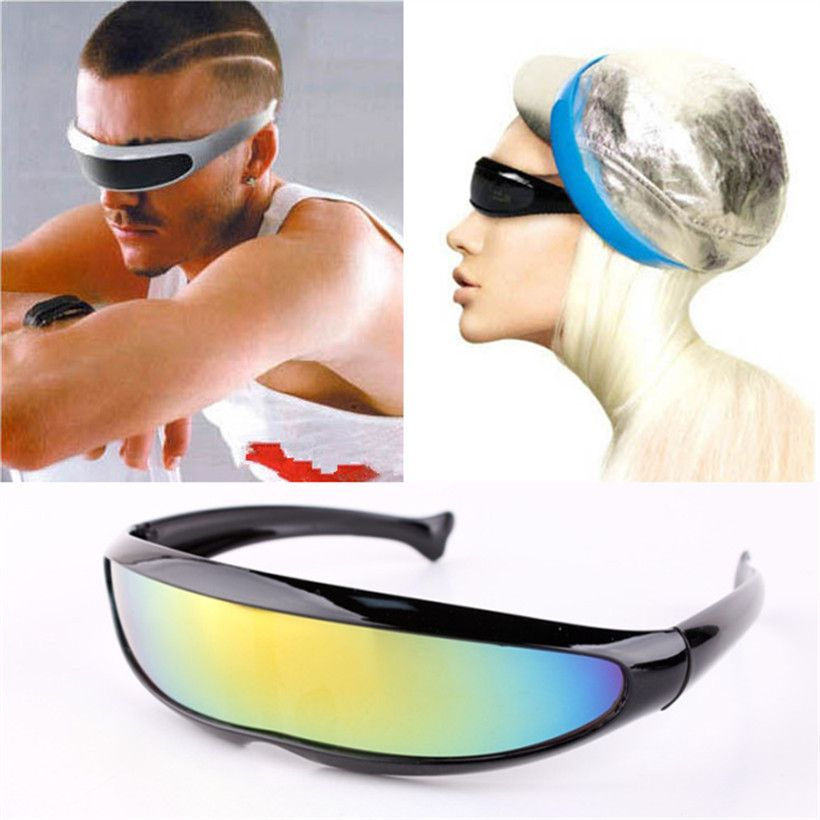 3118a46bb4 X-Men Personality Sunglasses Laser Glasses Outdoor Sports Sunglass Robots  Silver Lens Sun Glasses Men s Driving Goggles Glasses