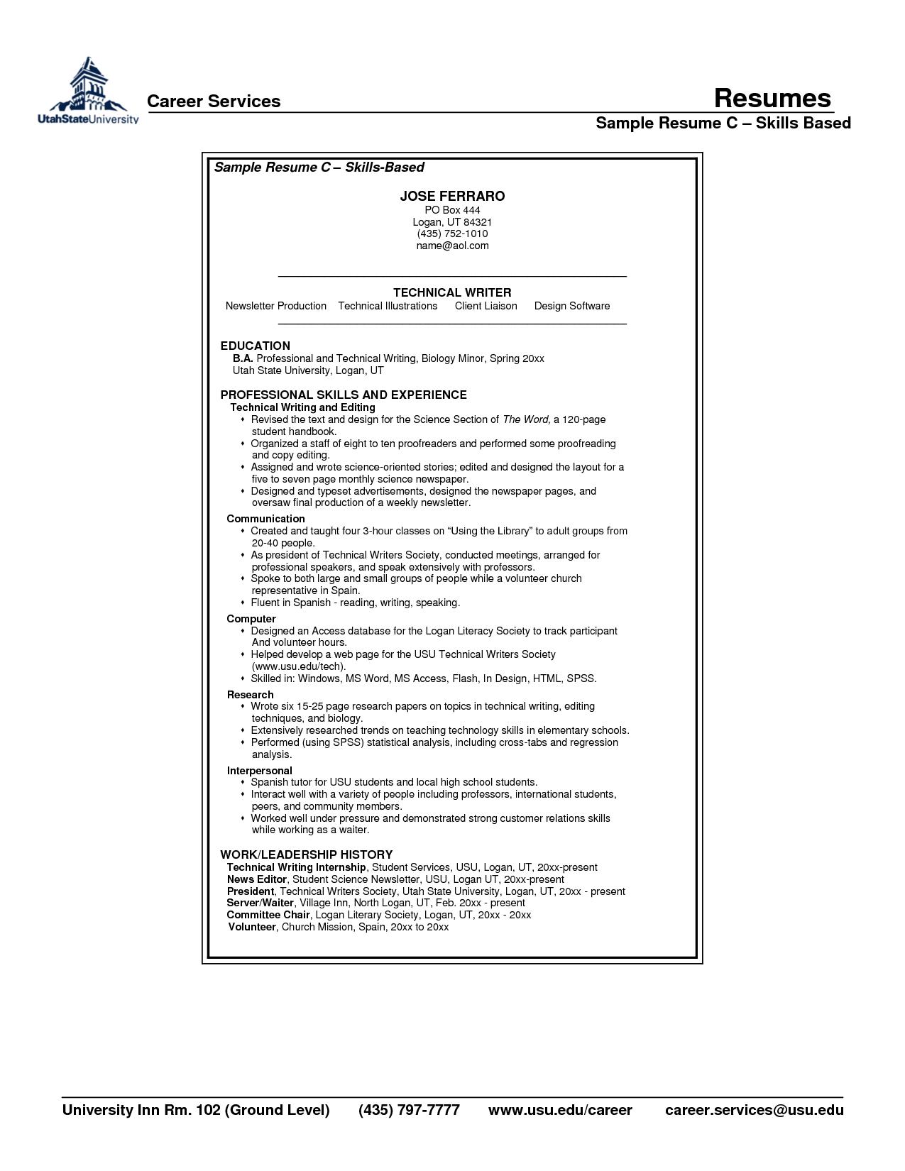 doc computer skills resume samples sample free templates examples