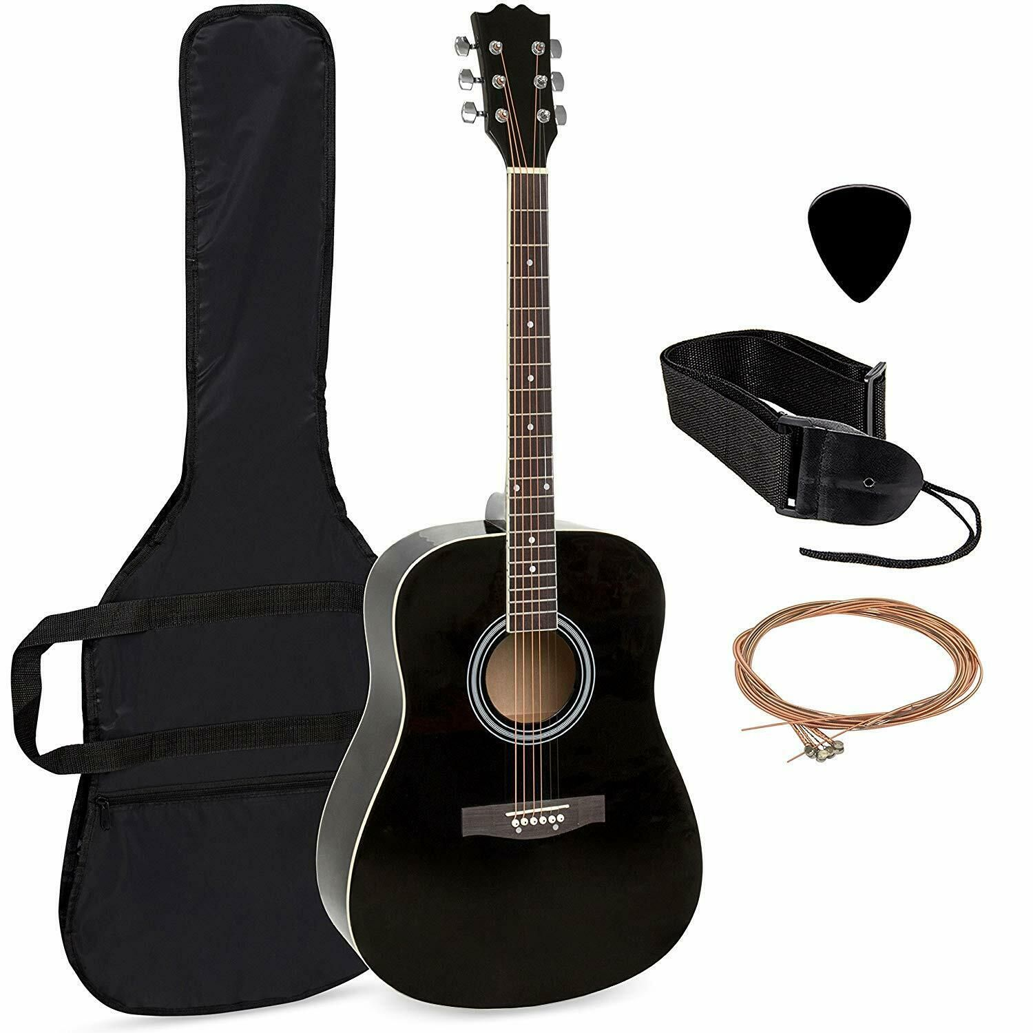 41in Full Size All Wood Acoustic Guitar Starter Kit W Case Pick Shoulder Acoustic Guitar Ideas Of Acoustic Guitar Acou Guitar Acoustic Guitar Guitar Case