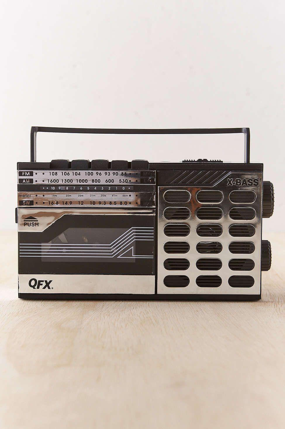QFX ReRun Retro Radio And Cassette Recorder/Player   Urban ...