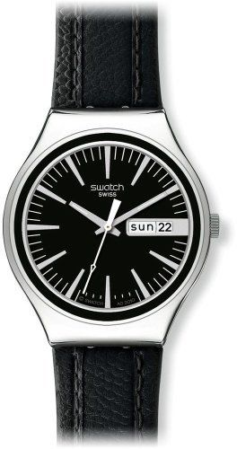 Swatch Irony Charcoal Suit Day-and-Date Black Dial Men's watch #YGS744  Swatch