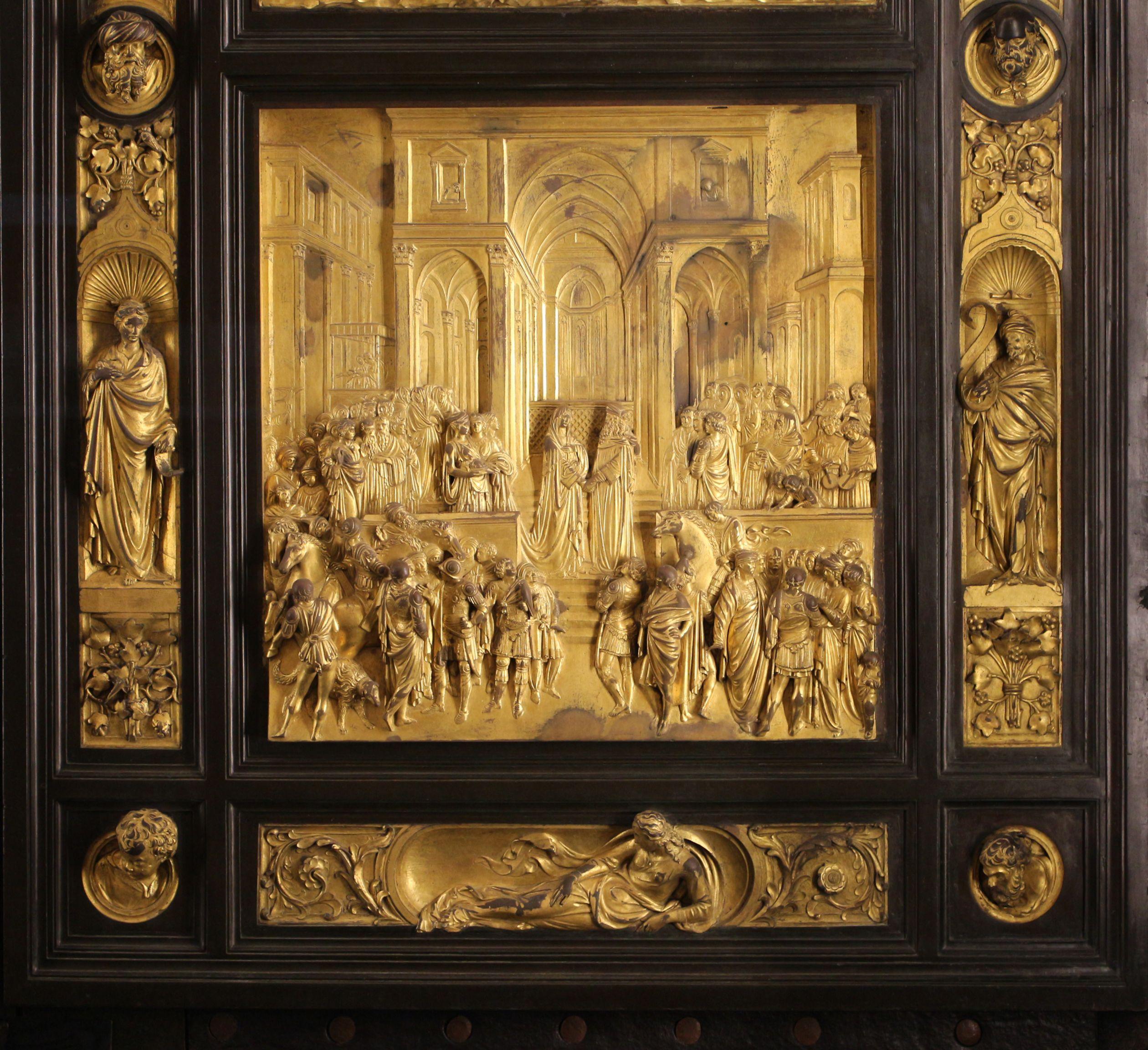 Ghiberti\u0027s door panel for Florence Baptistry & Lorenzo Ghiberti Porta del Paradiso L\u0027incontro tra Salomone e la ... Pezcame.Com