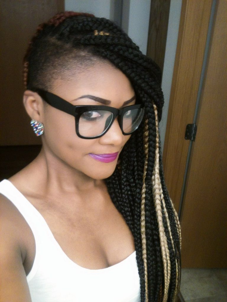 Box braids with shaved sides my next style hmm hair