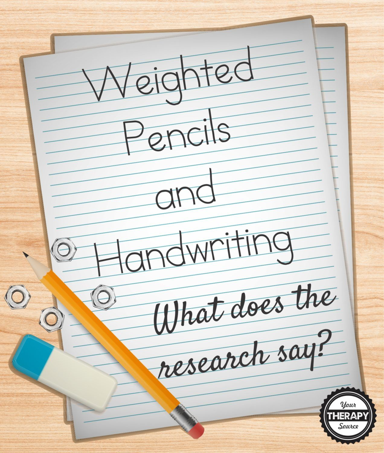 Weighted Pencils And Handwriting