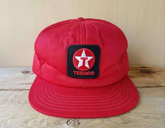 67a5a450d424a TEXACO Gas Station Original Vintage 80s Full Foam Trucker Hat Red ...