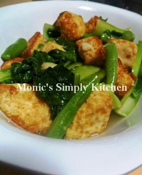 Tumis Buncis Pakcoy Dengan Egg Tofu Monic S Simply Kitchen Tumis Sayuran