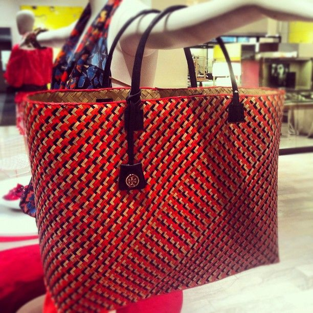 Around The Store: @toryburch basket-weave tote http://NeimanMarcus.com/insta_ToryBurch