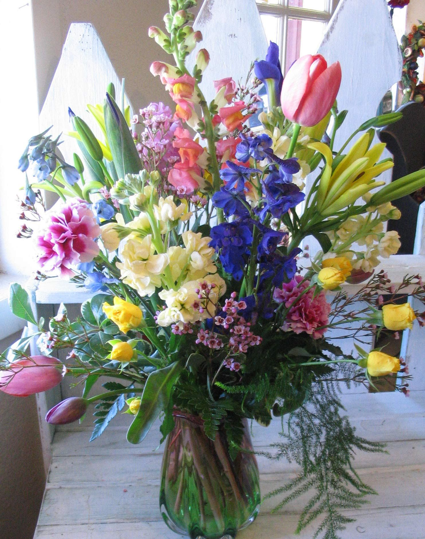 Fresh flowers from the florist are very nice for your sunday easter fresh flowers from the florist are very nice for your sunday easter dinner mightylinksfo