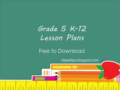 Grade 5 K12 Lesson Plans DepEd LP S Board 1 Lesson