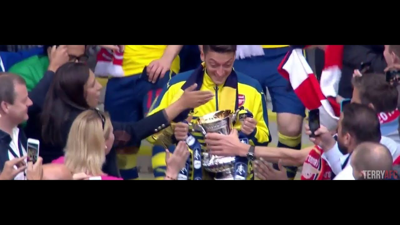 Mesut Özil vs Aston Villa + FA Cup Celebrations - 30/05/15 [720p50 HD]