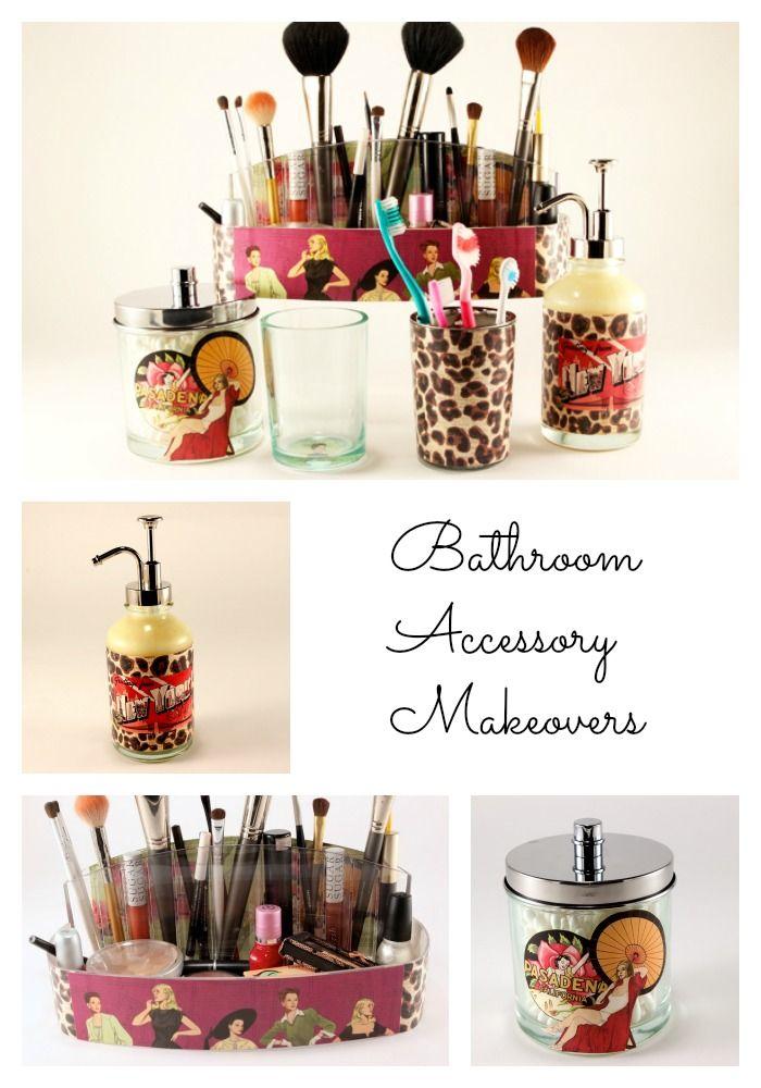 Bathroom Accessories Organizer makeup organizer and bathroom accessories makeovers with mod podge
