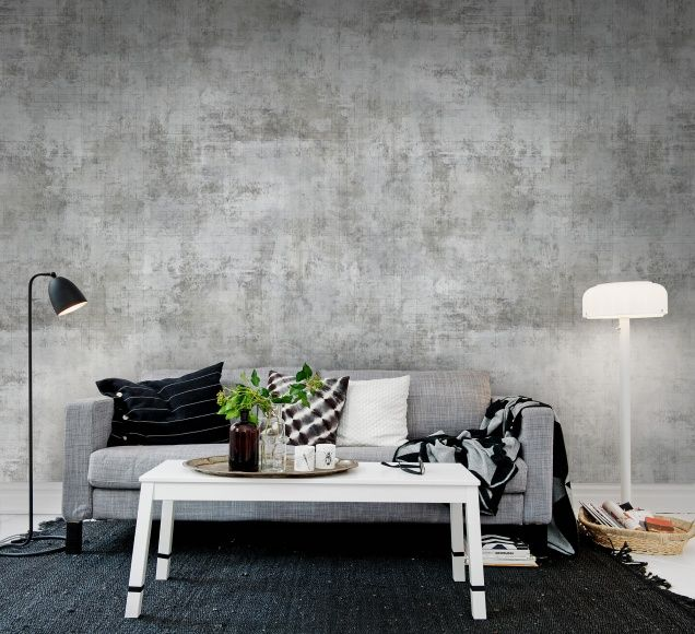 Squared Painting Wallpaper Living Room Industrial Decor Inspiration Living Room Scandinavian #wall #coverings #for #living #room