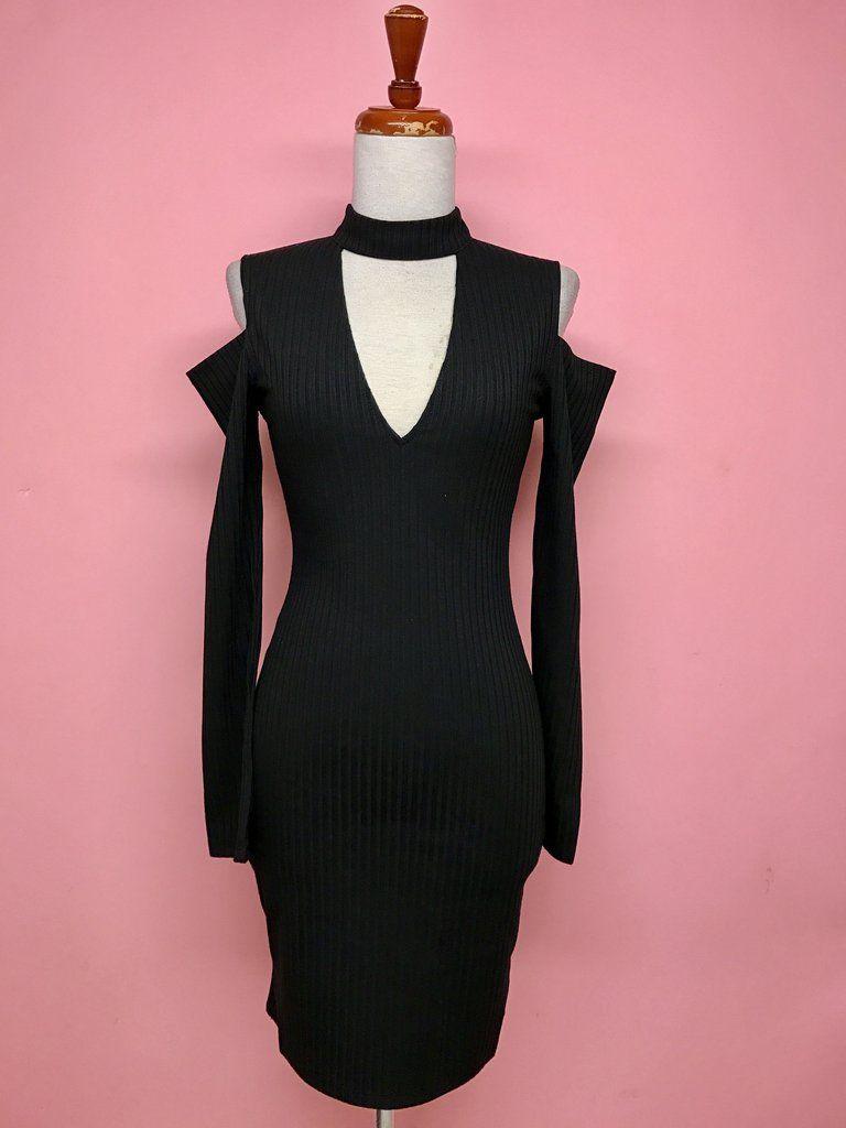 Vestido entallado negro de manga larga - OH MY! STORE | Dresses ...