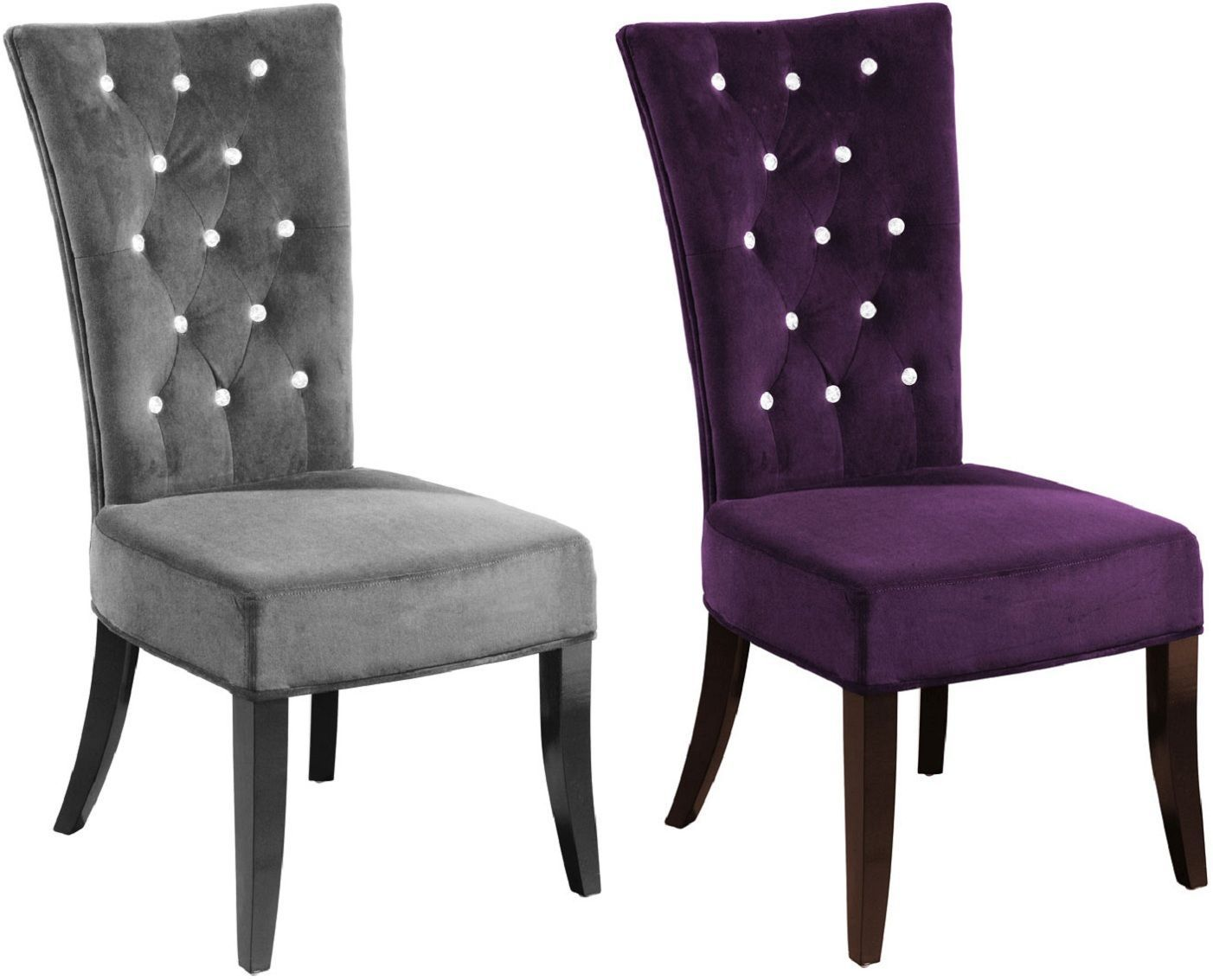 Purple Chairs For Bedroom  Bedroom chairs uk, Purple dining