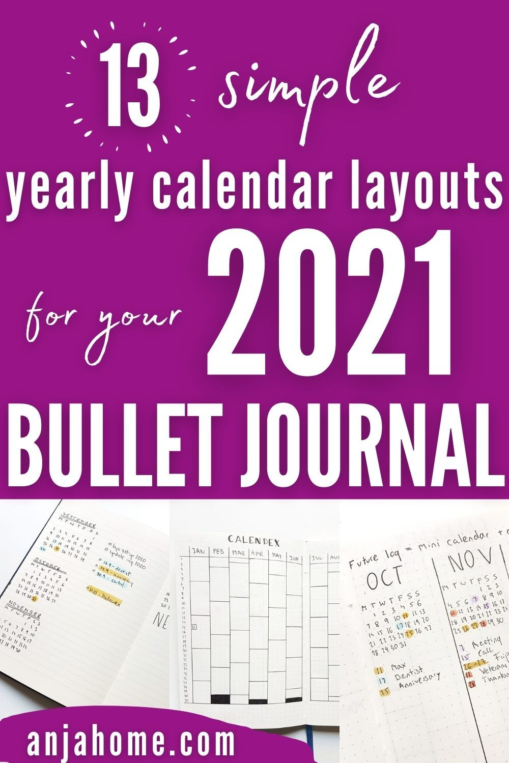 Bullet Journal Future Log Ideas For 2021 Anjahome Planner Bullet Journal Bullet Journal Month Bullet Journal
