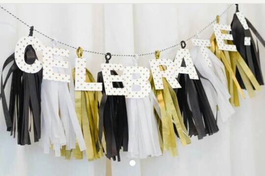 Banner with tassels