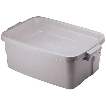 Rubbermaid Roughneck 8 7 In H X 15 9 In W X 23 875 In D Stackable Storage Box Stackable Storage Boxes Rubbermaid Storage Box