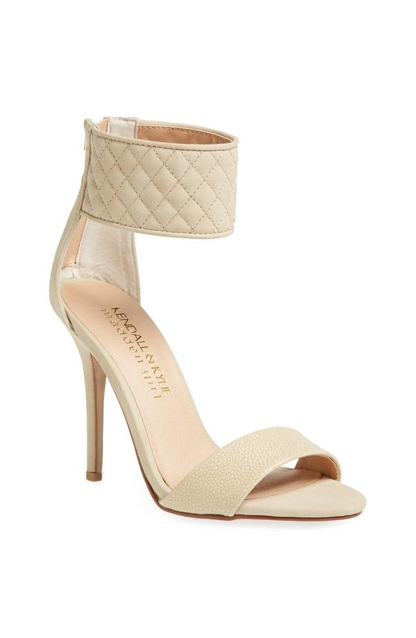Madden girl dejah sandal nude by Kendall & Kylie. A soft, quilted ankle  cuff accentuates the modern allure of a striking sandal set on a slender  heel.