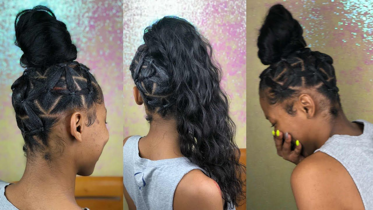 India Love Inspired Rubber Band Ponytail Nadula Hair Youtube