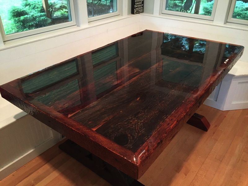 Clear Epoxy Resin Table