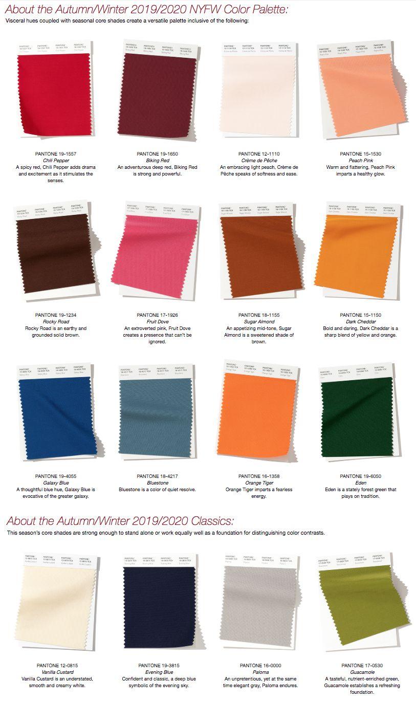 pantone 2019 20 colours color trends fashion black shades 164c