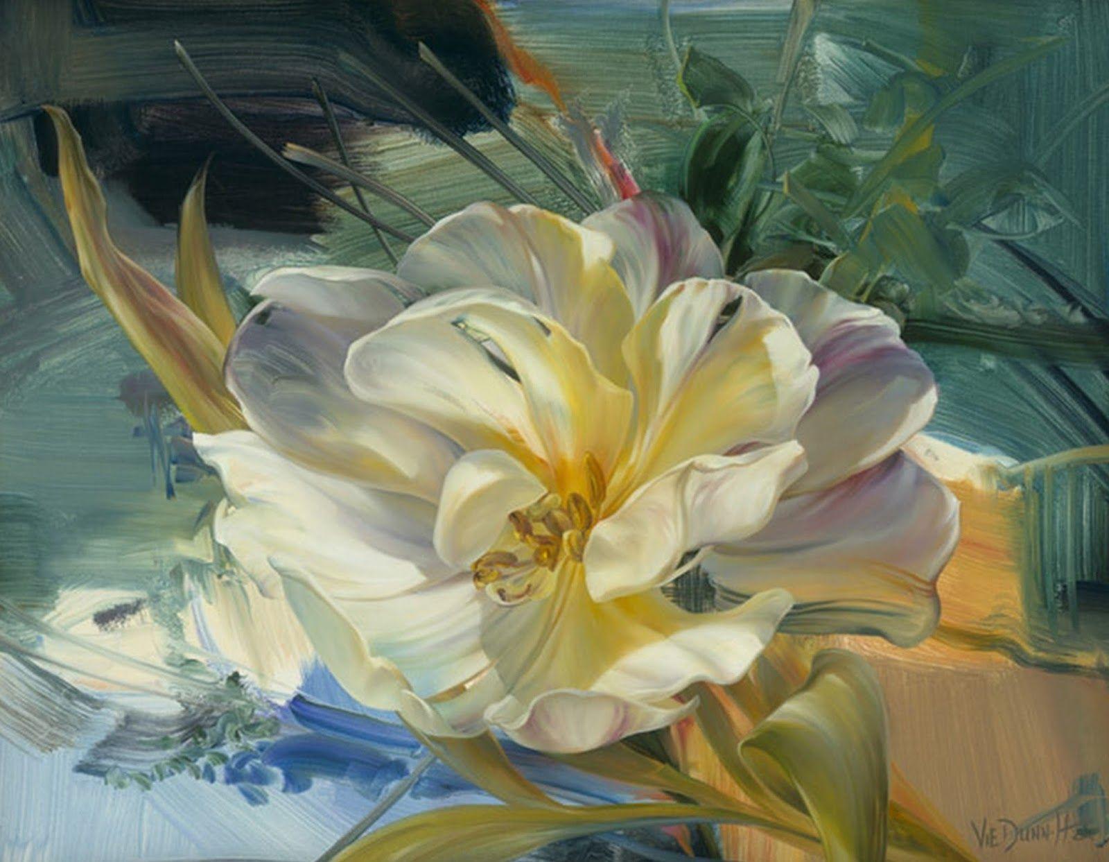 Vie Dunn Harr Art Prices Cuadros Modernos Con Flores Pintados En