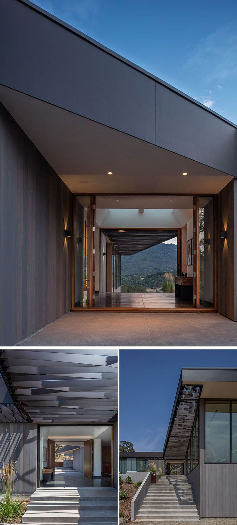 Schwartz And Architecture Have Designed A House With Sweeping Views Of Sonoma Valley Modern Villa Design House Design Cool House Designs