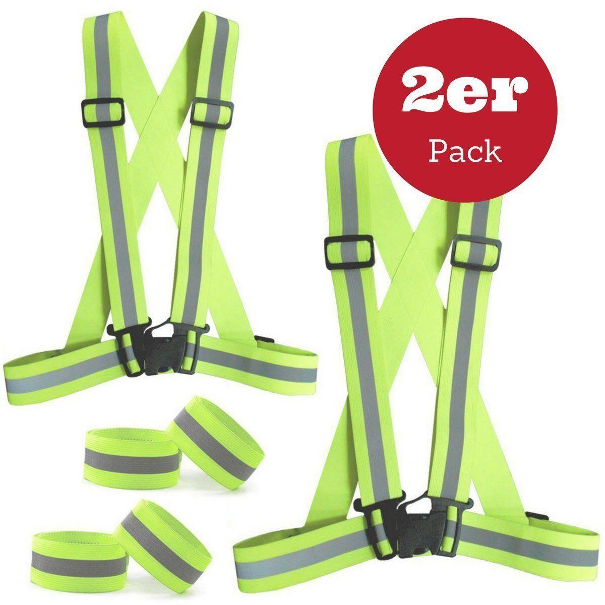 Reflective Vest Set(2 Pack),SGODDE Lightweight Adjustable