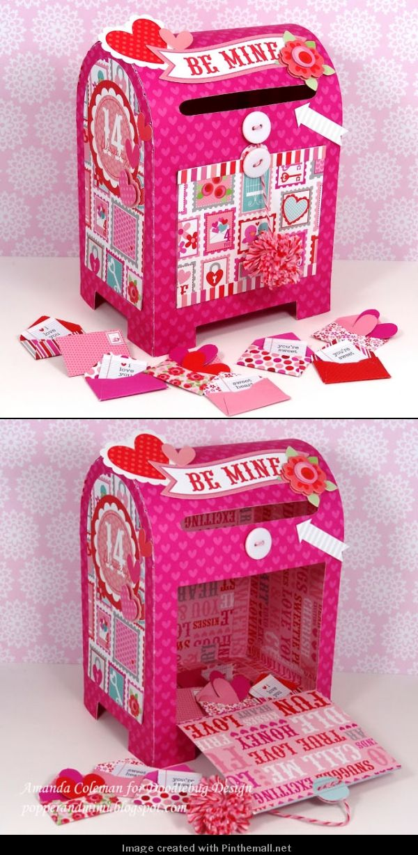The cutest DIY Valentine box packaging let's make one PD
