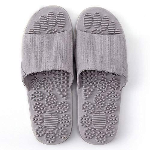 Photo of Acupressure Massage Slippers Therapeutic Reflexology Sandals for Foot Acupoint Massage Shiatsu Arch Pain Relief Non-Slip Massage Shoes for Bath Shower (Gray)