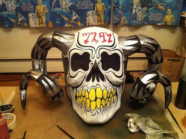 Portland Metal Bowling League Season 11 Skull trophy by Martinhead!, via Flickr
