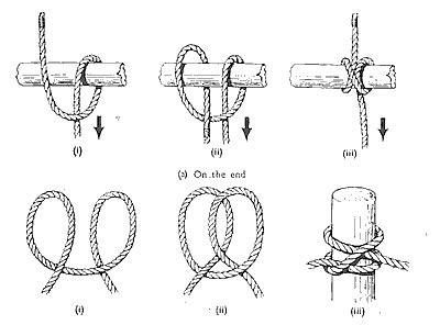 The Clove Hitch knot, used predominantly by mountaineers