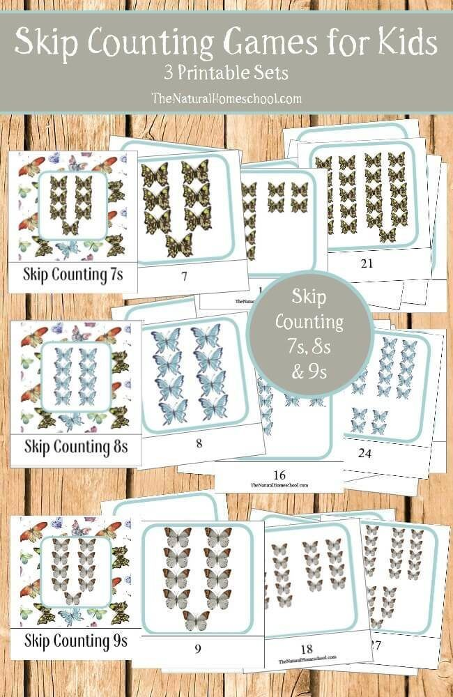 Skip Counting Games for Kids {7s, 8s, 9s Printable 3-Part Cards ...