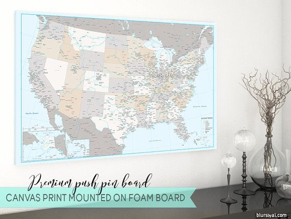 Premium Push Pin Board USA Map Pinboard US Pinboard Map Highly - Us map pinboard