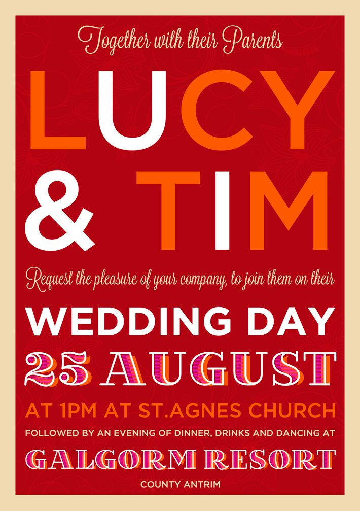 festival style poster wedding invitation | Wedding <3 | Pinterest ...